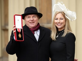 Sir Van Morrison was joined for the ceremony by his singer-daughter, Shana Morrison.