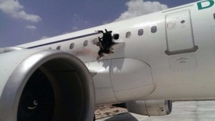 Man confirmed missing from plane which had hole blown in its side in Somalia