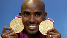 Olympic track hero Mo Farah who has revealed he was driven to win double gold so his newly-born twins would have one each.