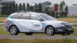 pic of driverless car