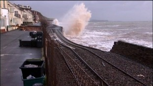 The track was swept away with part of the sea wall in February 2015