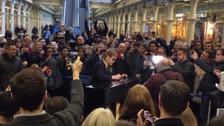 Elton surprises travellers with impromptu gig at London station