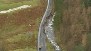 The damage to the A591