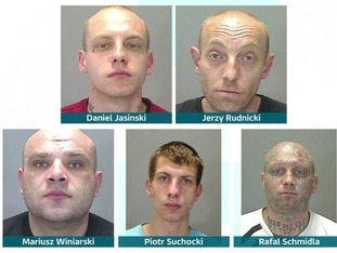 Four men were found guilty of false imprisonment, and one of drugs offences