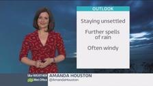 UK weather: Turning wet and windy