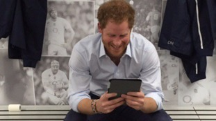 Prince Harry Skypes the Row2Recovery team.
