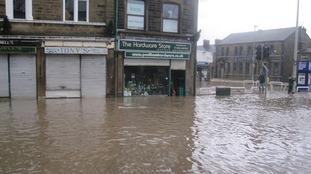 Padiham town centre in Lancashire