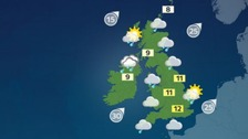 Weather: Grey skies with rain for most parts of the UK