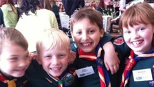 Cub Scouts enjoying CUBS 100