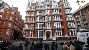 The media gathered at the Ecuadorian embassy awaiting Julian Assange's first public appearance since a UN panel ruled in his favour in his bid to walk free.