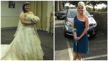 Bride of 15 stone drops eight dress sizes to be bridesmaid