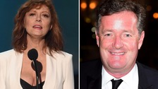 Susan Sarandon hits back at Piers Morgan in cleavage row