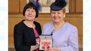 Professor Anita MacDonald OBE with her honour (right) and Anne Daly, Metabolic Dietician at Birmingham Children's Hospital