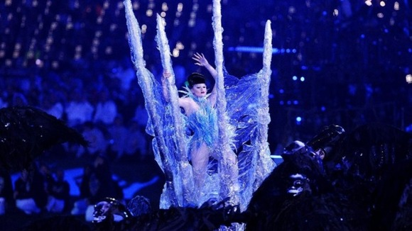 A performer at the Paralympics Opening Ceremony