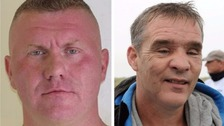 (l) Raoul Moat and (r) David Rathband