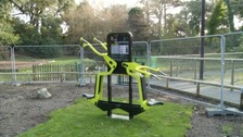 Adult gym equipment in the park