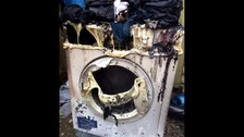 Family made homeless after fire in tumble dryer