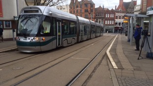 Emergency services called after collision between tram and pedestrian