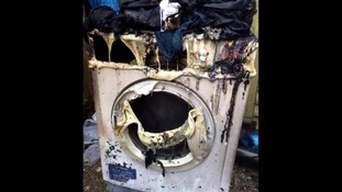 Family homeless after fire in tumble dryer