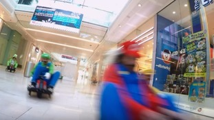 Mario Kart flashmob dodges security and storms through shopping centre