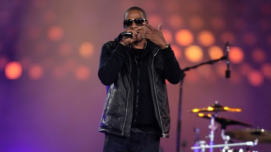 Jay-Z performs during the Closing Ceremony for the London Paralympic Games 2012 
