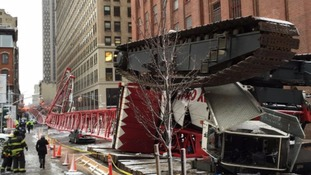 Huge crane collapses in New York City neighbourhood
