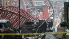 Huge crane collapse in central New York City kills at least one