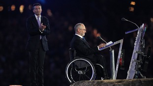 LOCOG Chairman Lord Sebastian Coe (left) and President of the IPC Sir Philip Craven during the Closing Ceremony