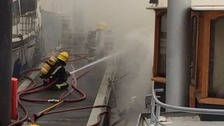Two cats killed in fire on leisure boat in marina