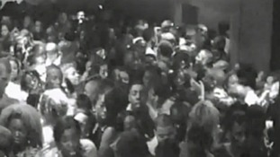 A CCTV image shows the crowds of people trying to leave the Lava and Ignite nightclub in October 2011.