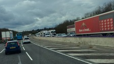 The northbound stretch of the M5 in Worcestershire was due to be reopened at 6am but was still closed at 4pm.