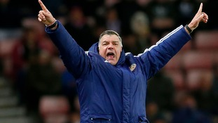 Sunderland manager Sam Allardyce gestures from the touchline.