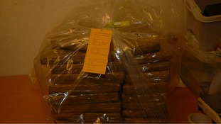 650kgs of cannabis was seized.