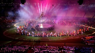 Performers during the Paralympic Games closing Ceremony