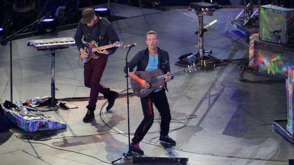 Coldplay perform during the Paralympic Games closing Ceremony