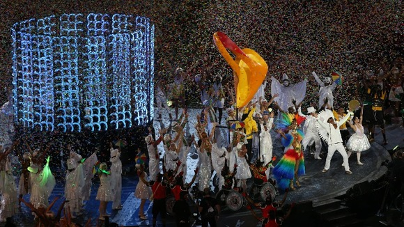 Brazil perform during the Paralympic Games closing Ceremony