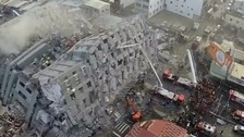Search for survivors after Taiwan quake triggers buildings collapse
