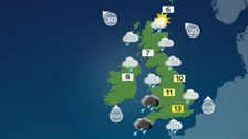 Outbreaks of rain will spread to most parts of the UK