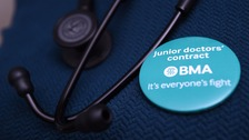 'Masked march' protest in support of junior doctors