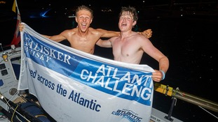 Students become the youngest pair to row across the Atlantic