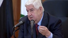 Walid al-Moualem, Syrian foreign minister.