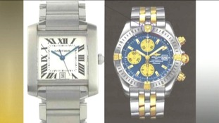 Cartier and Breitling watch