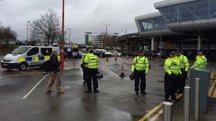 Police presence at Pegida demonstration