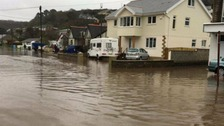 'Danger to life' flood warning issued for Portreath