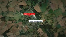 The burglary happened in Rectory Road, Sible Hedingham