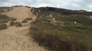 The sand dunes where it is believed the boy died