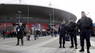Armed soldiers stood guard as the Stade de France re-opened for the Six Nations