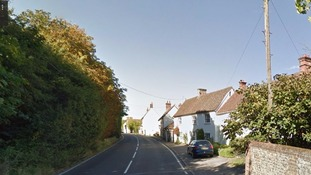 The man was disturbed by intruders entering his home in Sible Hedingham, Essex,