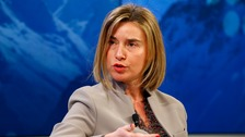 Ms Mogherini said EU support to Turkey was intended to be used on refugees