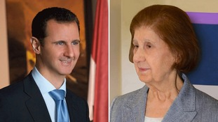President Bashar al-Assad and his mother Anissa Makhlouf al-Assad